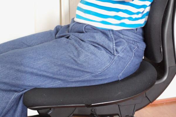 カシコチェアの座面のくぼみ
