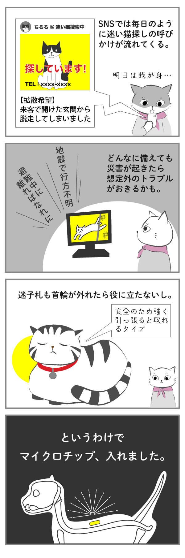 猫にマイクロチップを入れたブログ